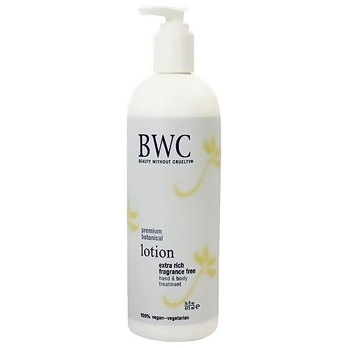 BWC Premium botanical extra rich hand and body lotion, Fragrance Free - 16 oz