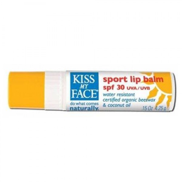Kiss My Face Organic Sport Lip Balm, SPF 30 - 0.15 oz, 24 pack