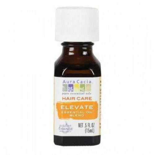 Hair care elevate essential oil blend aura cacia - 0.5 oz