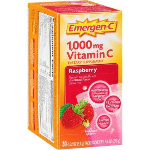 Emergen c dietary supplement in raspberry flavor - 30 ea