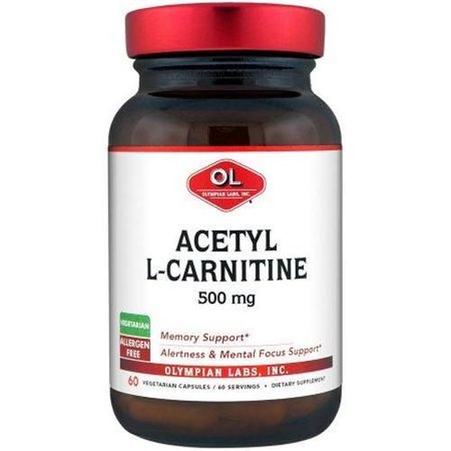 Olympian labs acetyl l carnitine dietary supplement - 60 ea