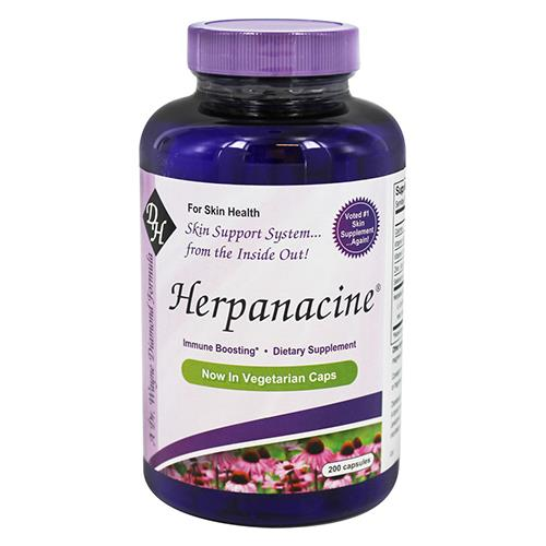 Diamond herpanacine vegetarian capsules, for healthy skin  -  200 ea