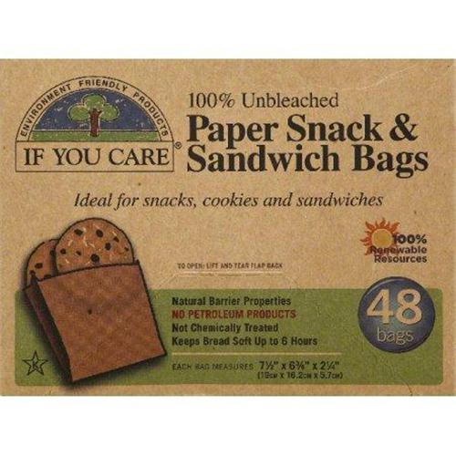 If you care paper snack and sandwich bags - 48 ea