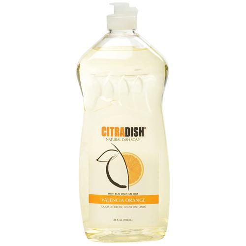 Citra solv dish natural liquid dish soap, valencia orange - 25 oz