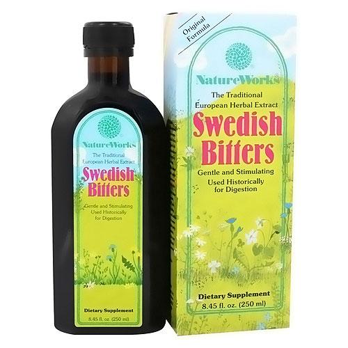 NatureWorks Swedish Bitters dietary supplement liquid - 8.45 oz