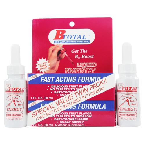 Sublingual b total liquid energy twin pack (2 x 1 oz. Bottles) - 2 oz