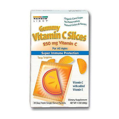 Rainbow light gummy vitamin C  slices packets, 250 mg - 30 ea