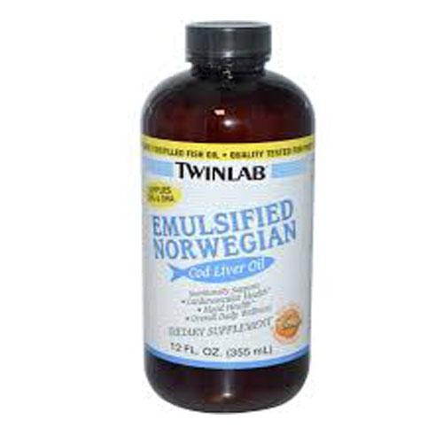 Twinlab emulsified norwegian cod liver oil orange - 12 oz