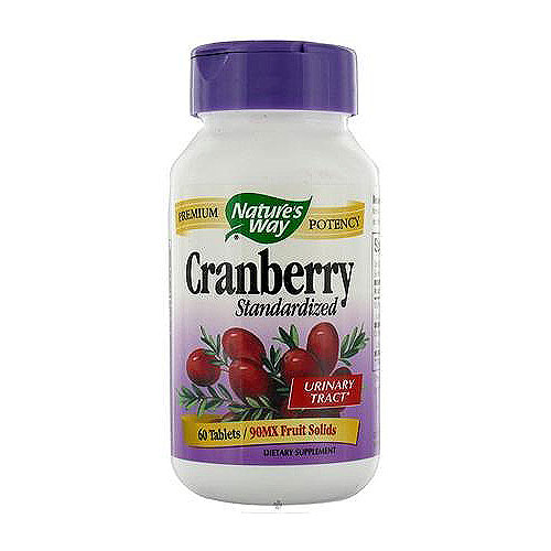 Standardized Cranberry Tablets For Urinary Tract By Naturesway - 60 Ea