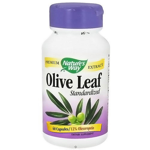 Natures Way Standardized Olive Leaf Extract Vegetarian Capsules, 60 ea