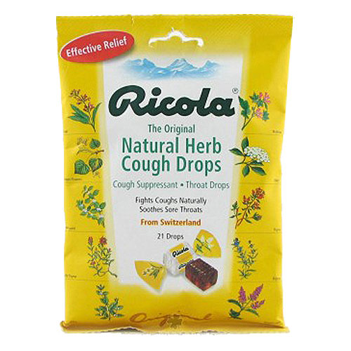 Ricola natural herb cough drops, original - 21 ea, 12 pack