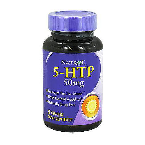 5-HTP 50mg capsules by Natrol promotes positive mood - 60 ea