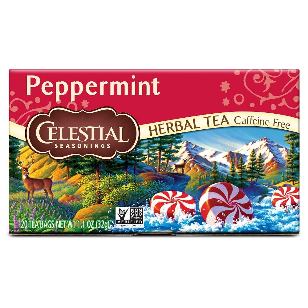 Celestial seasonings caffeine free peppermint natural herbal tea - 20 bags,6 pack