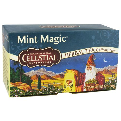 Celestial seasonings herb tea caffeine free, mint magic - 20 tea bags