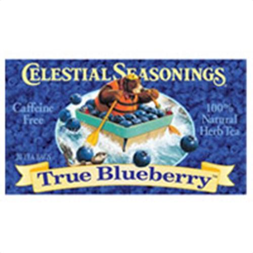 Celestial seasoning caffeine free natural herbal tea, true blueberry - 20 tea bags
