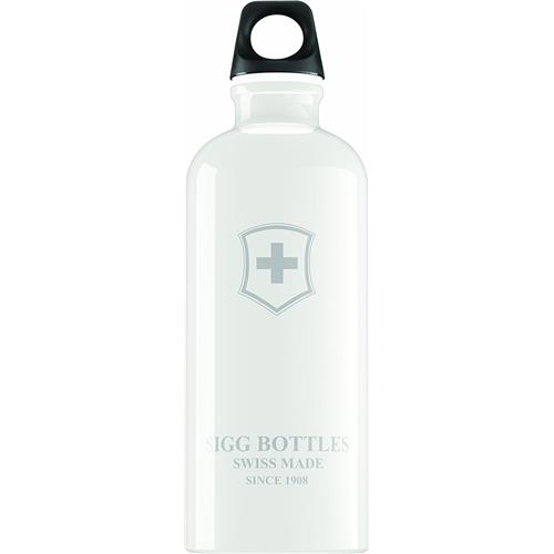 Sigg swiss emblem water bottle white color - 1 ea