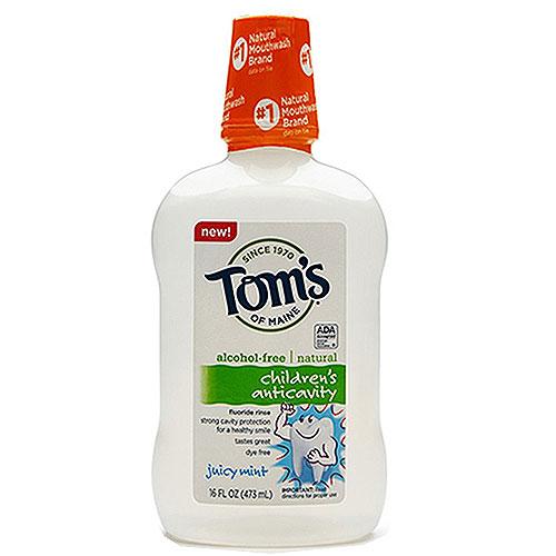 Toms of mine anticavity flouride mouthwash, juicy mint - 16 oz