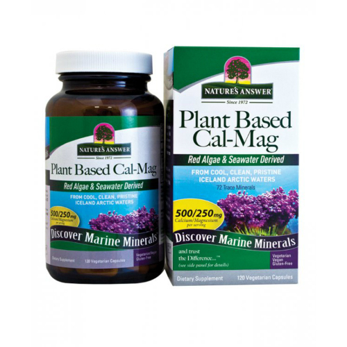 Nature's answer plant based cal mag vegetarian capsule -120 ea