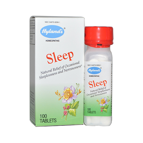 Hylands sleep relief tablets, natural relief of occasional sleeplessness and nervousness  -  100 ea