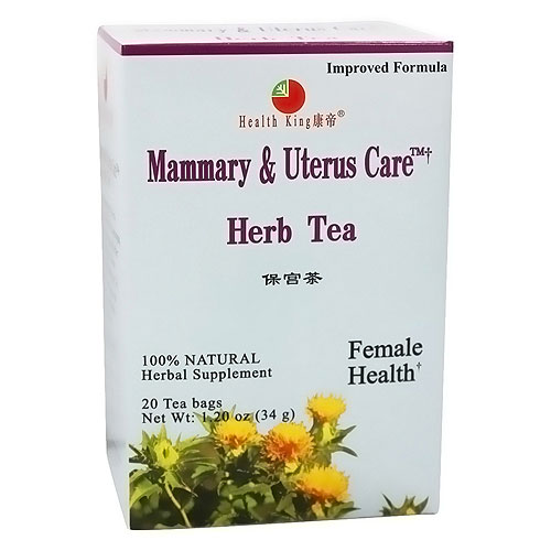 Health King Mammary and Uterus Care, Herb Tea - 20 Tea Bags