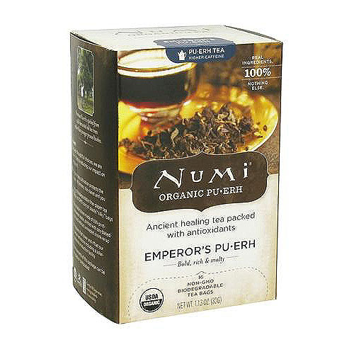 Numi Organic Pu-erh Tea Emperors, With anti oxidants - 16 Tea Bags, 6 pack