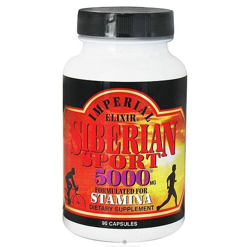 Imperial Elixir Siberian sport 5000 mg stamina capsules - 90 ea