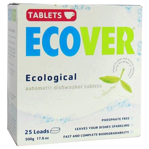 Ecover ecological automatic dishwasher tablets 25 loads - 17.6 oz , 12 pack