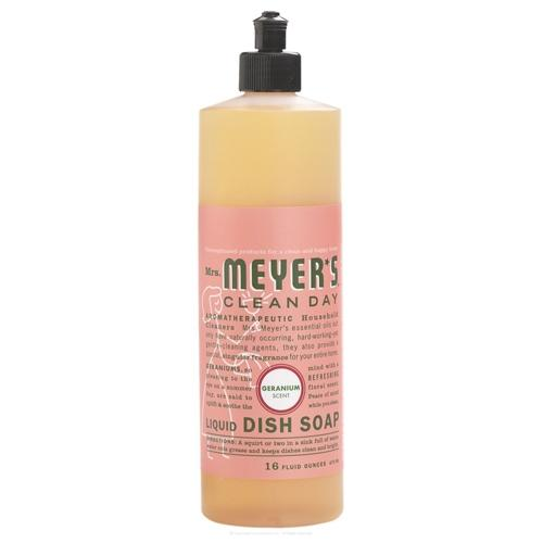 Mrs. Meyers clean day liquid dish soap, geranium  -  16 Oz