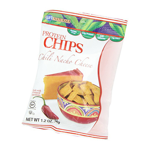 Kays naturals protein chips, chili nacho cheese - 1.2 oz ,6 pack