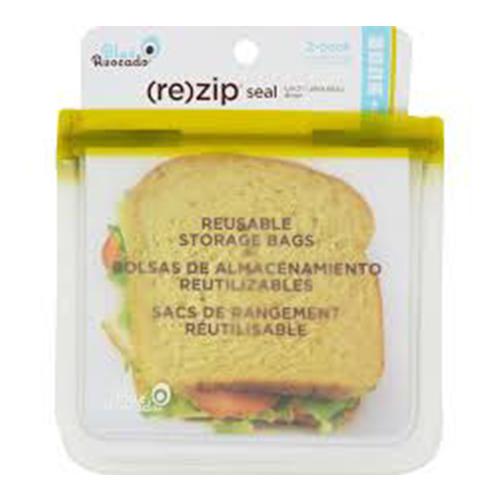Blue avocado re zip seal snack green bag - 2 ea