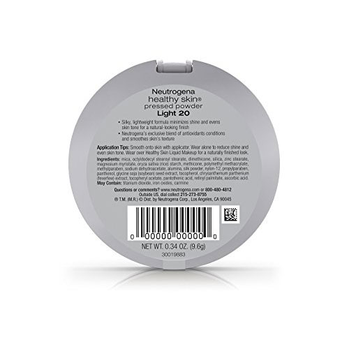 Neutrogena healthy skin pressed powder compact, light - 2 ea