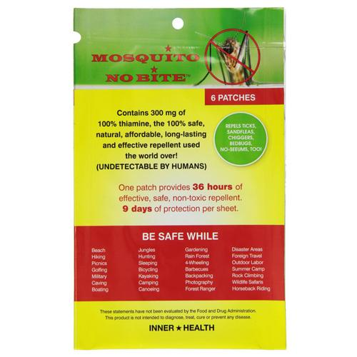 Inner health mosquito no bite patch - 6 ea