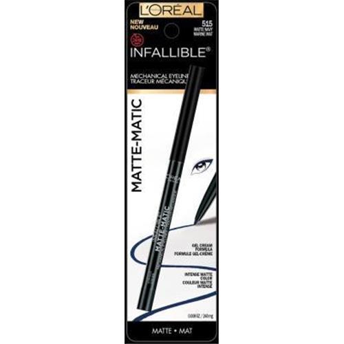 Loreal paris infallible matte matic mechanical eyeliner, navy matte - 2 ea