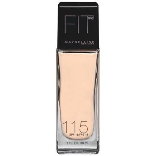 Maybelline fit me foundation ivory, spf 18 - 2 ea