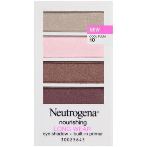 Neutrogena nourishing long wear eye shadow primer, cool plum - 3 ea